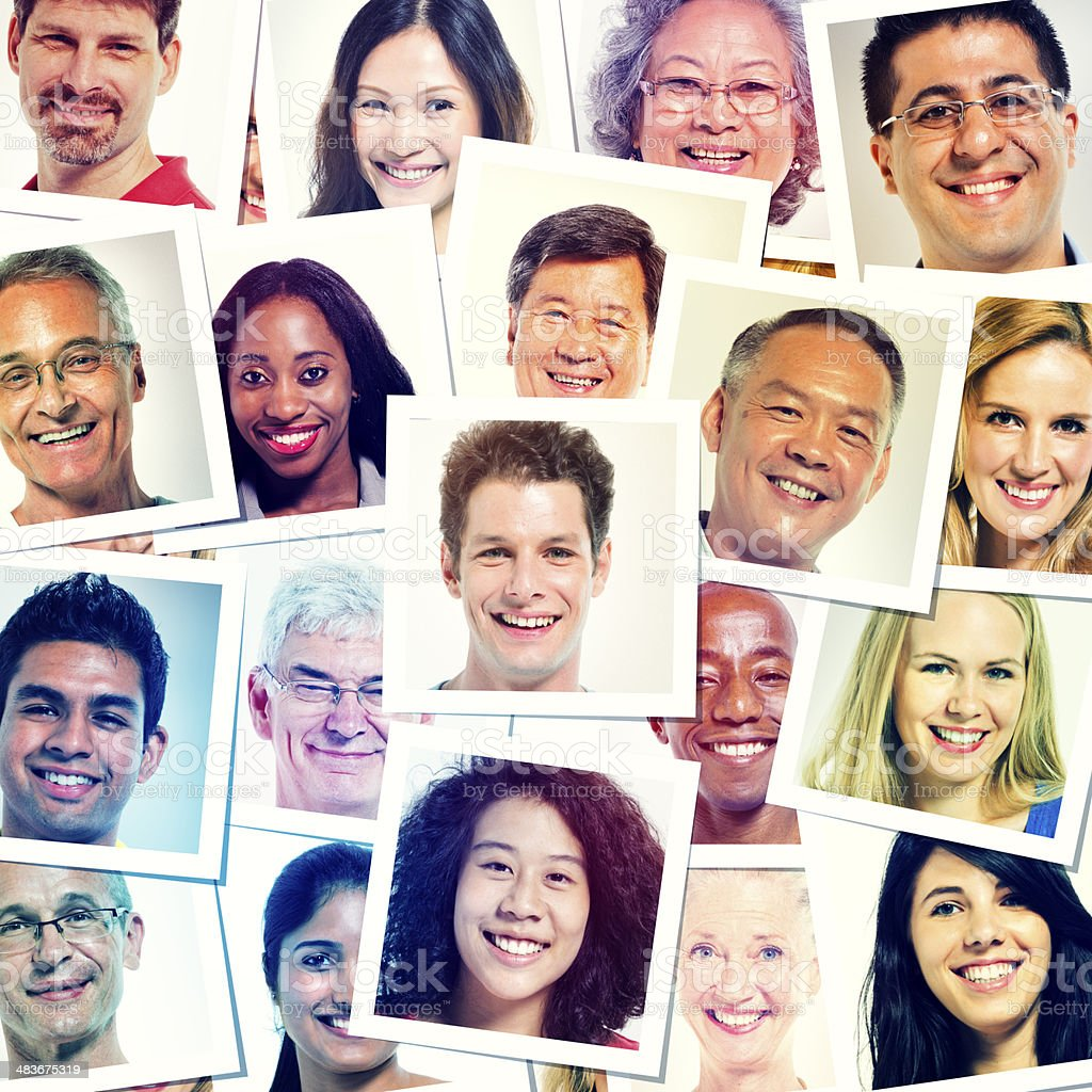 Head shot Picture of World People Smiling stock photo