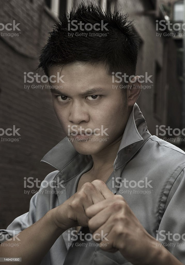 head shot with Asian male Model royalty-free stock photo