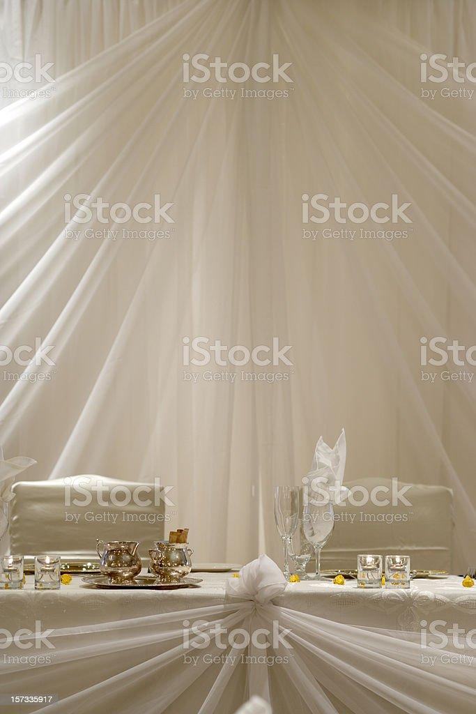 Head Table royalty-free stock photo