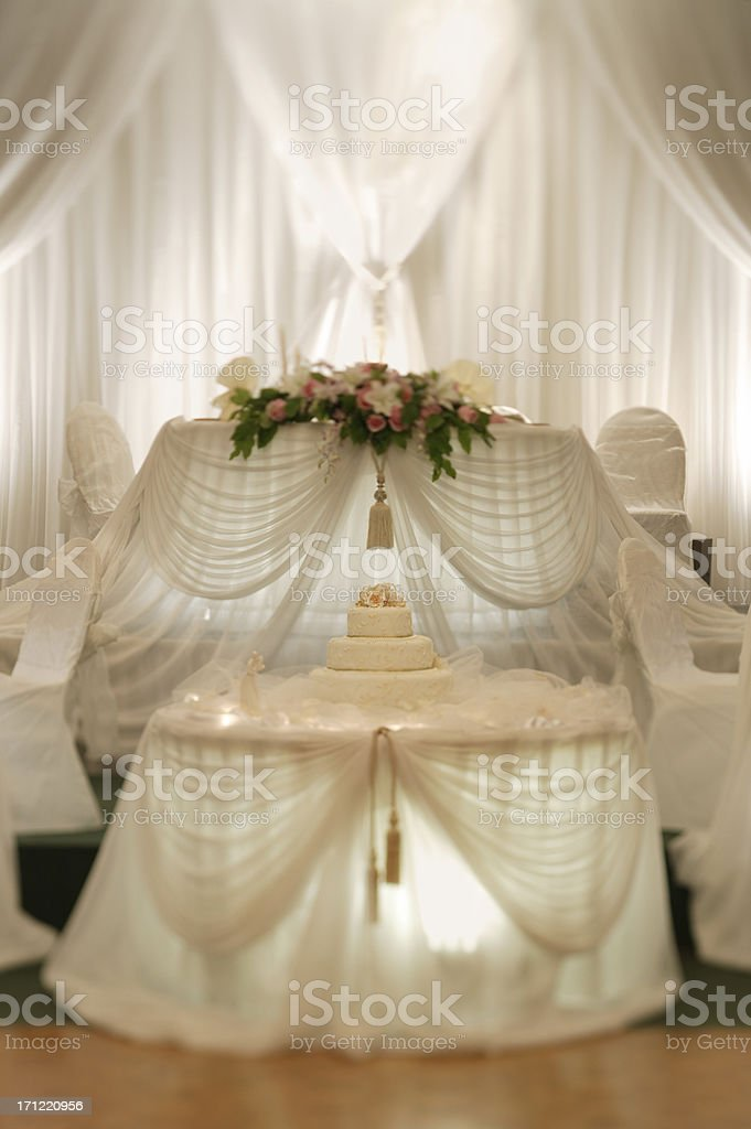 Head table with the Cake royalty-free stock photo