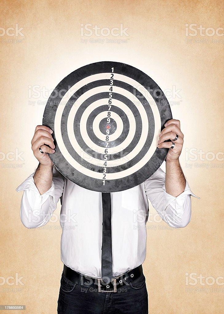 Head target royalty-free stock photo