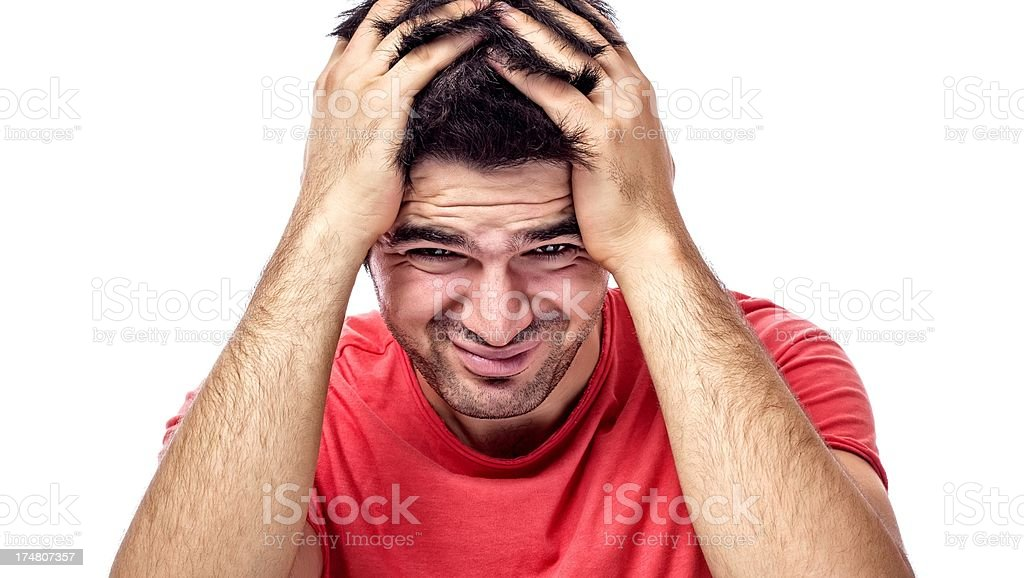 Headache and Dandruff stock photo
