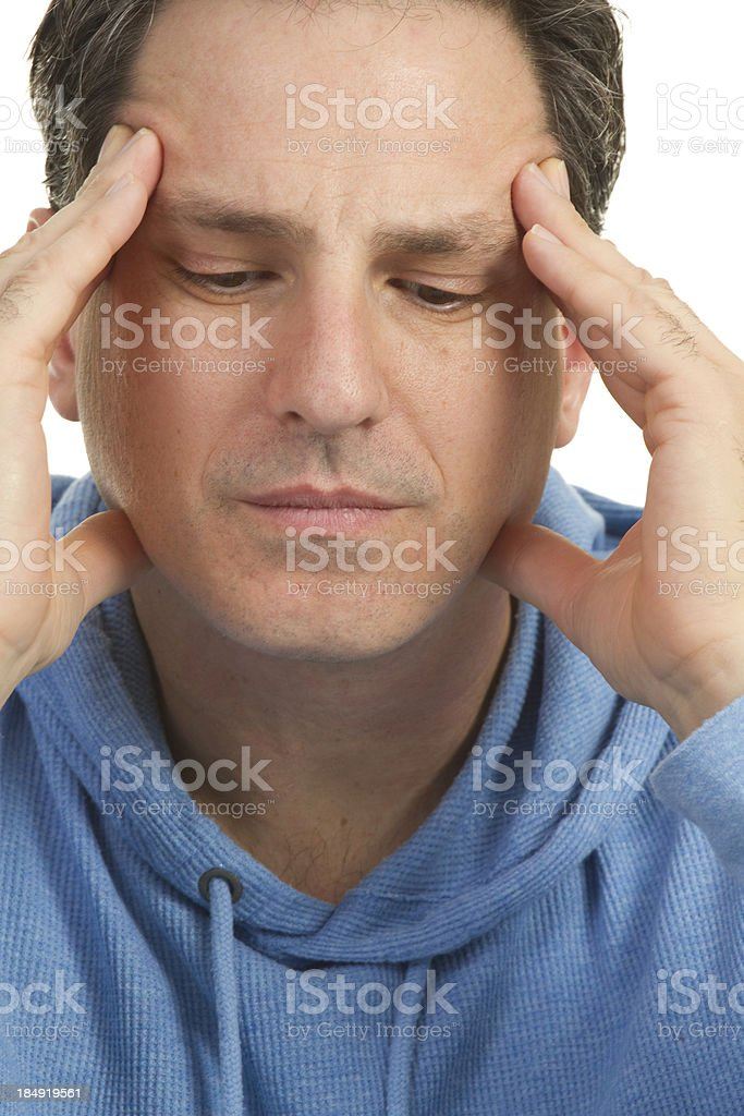 headache and pain concept royalty-free stock photo