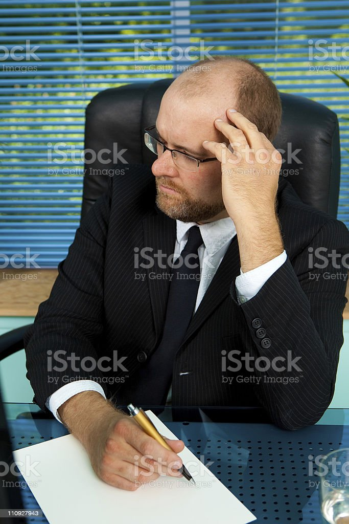 Headache at work royalty-free stock photo