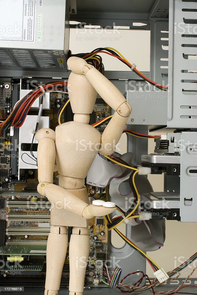 Headache from Computer Problems royalty-free stock photo