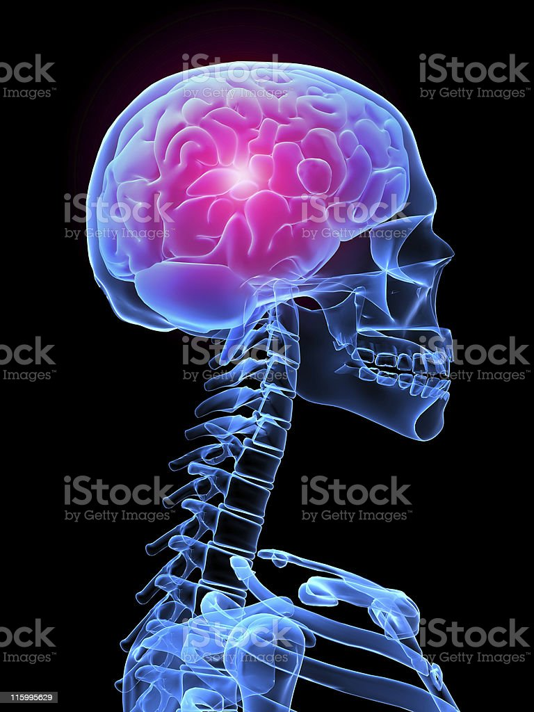 headache illustration royalty-free stock photo