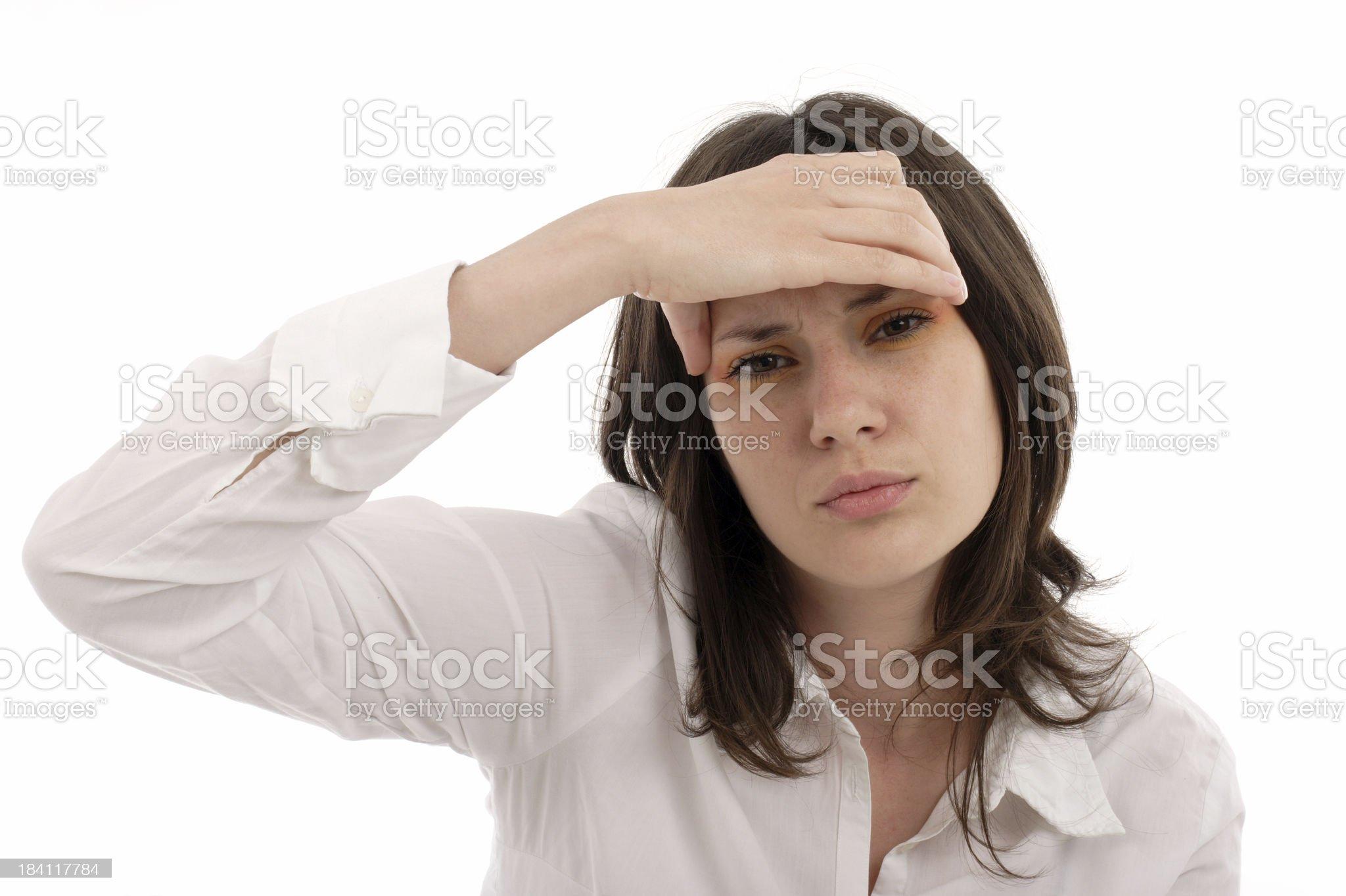 Headache ll royalty-free stock photo