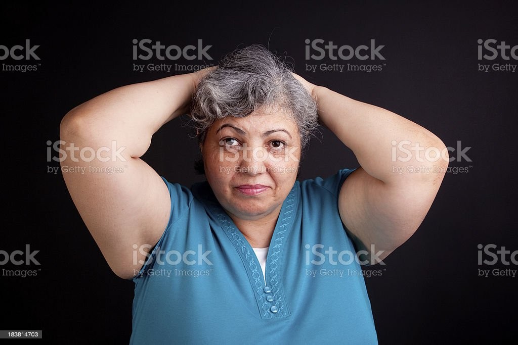 headache on a black stock photo