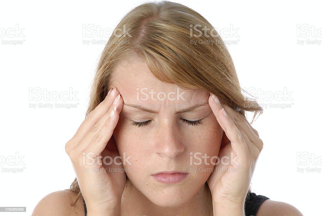 Headache pain royalty-free stock photo