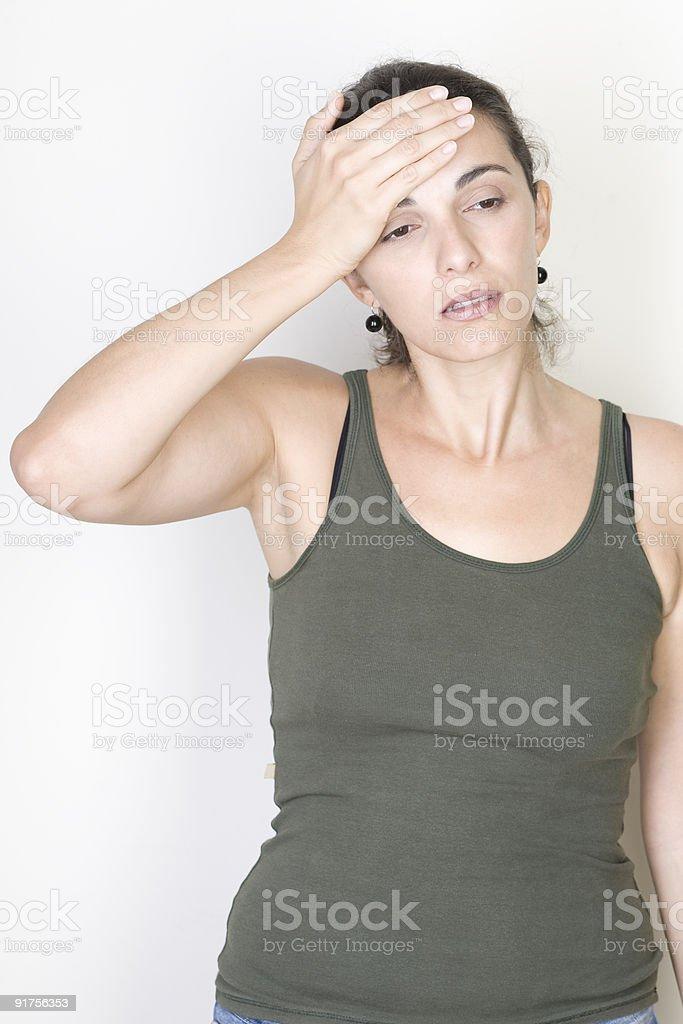 headache woman royalty-free stock photo