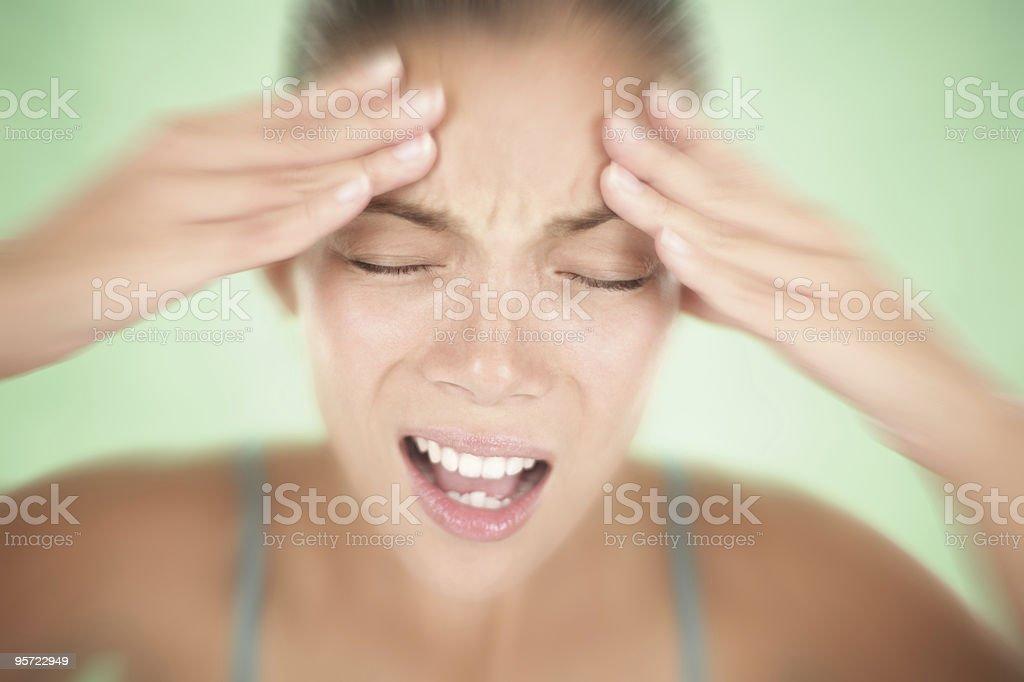 Headache woman stock photo