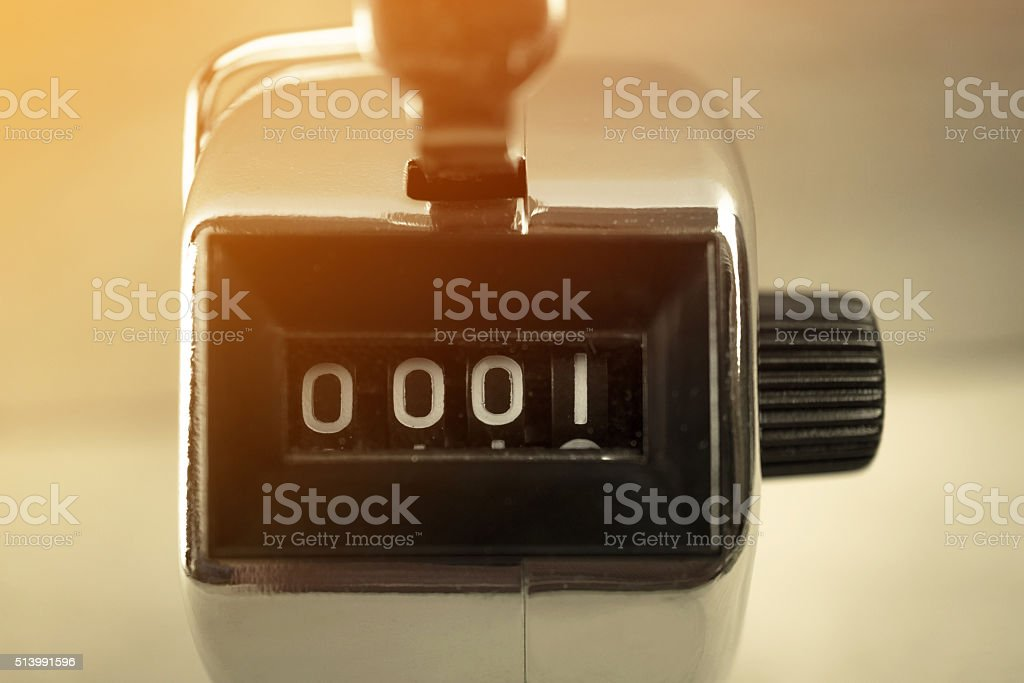 headcount at number 1 stock photo