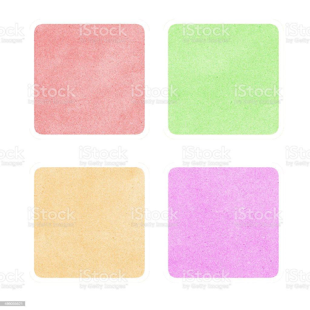 Header tag recycled paper on vintage tone background stock photo