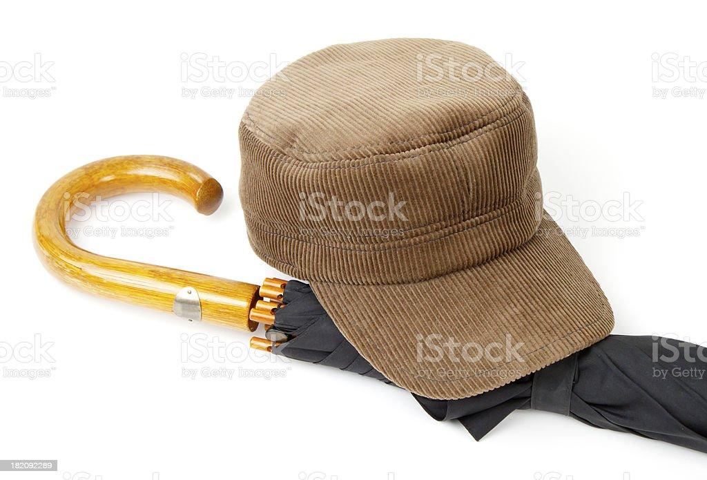 Headgear and an umbrella stock photo