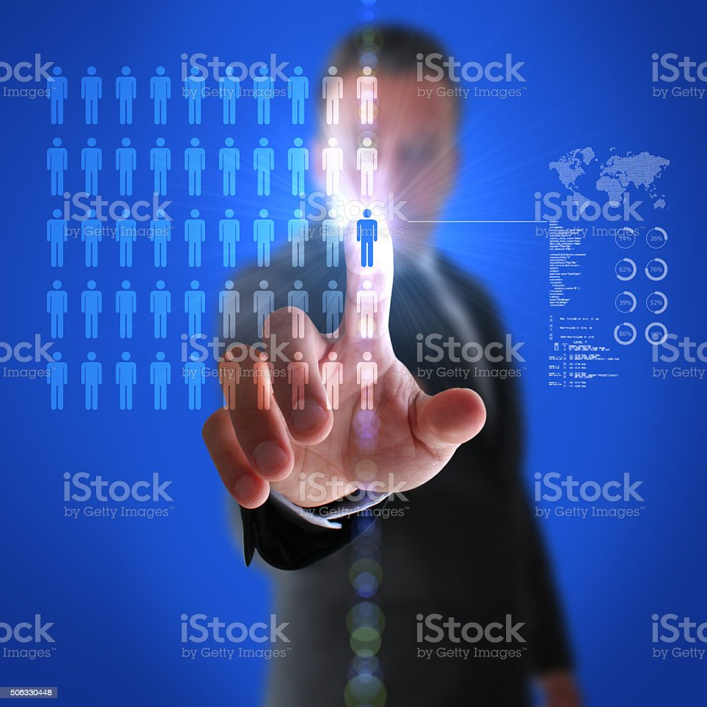 Headhunter Finding Excellent Employees stock photo