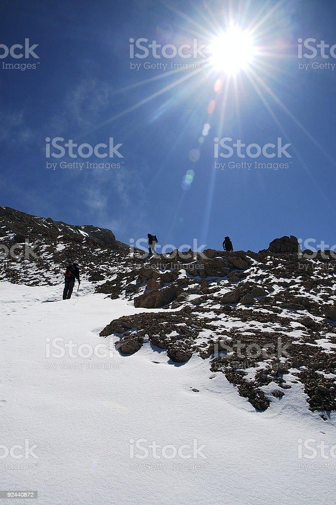 Heading for the Summitt stock photo