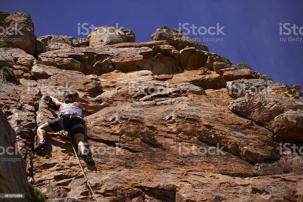 Heading for the top royalty-free stock photo