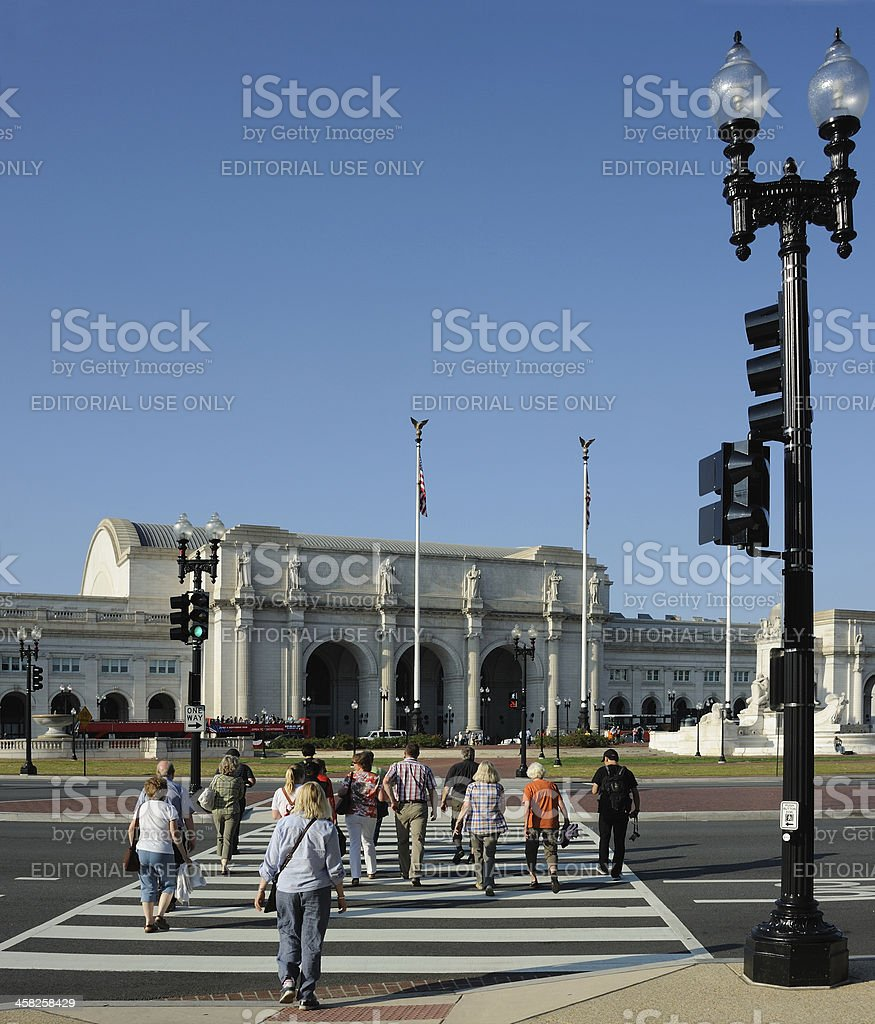 Heading for Union Station Washington royalty-free stock photo