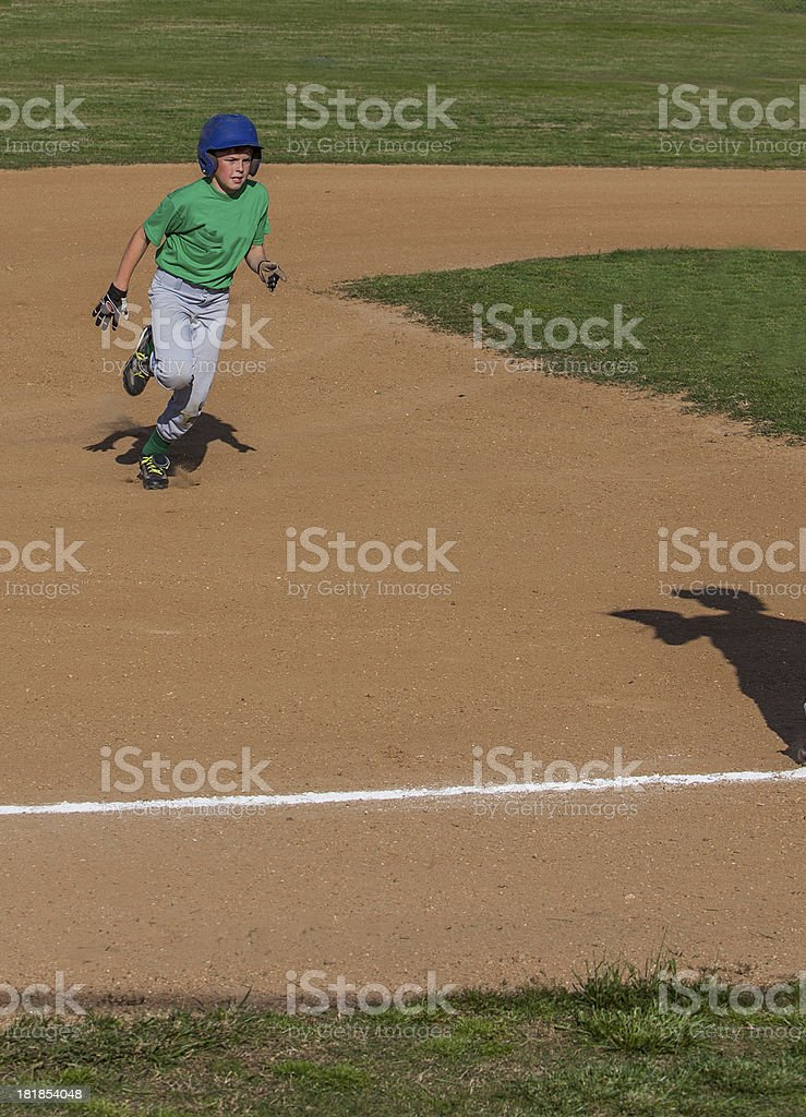 Heading into third base royalty-free stock photo