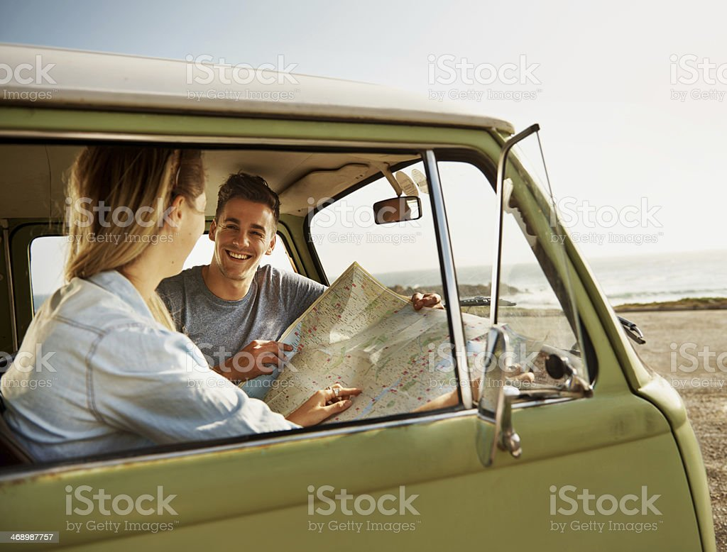 Heading off into the unknown together! royalty-free stock photo