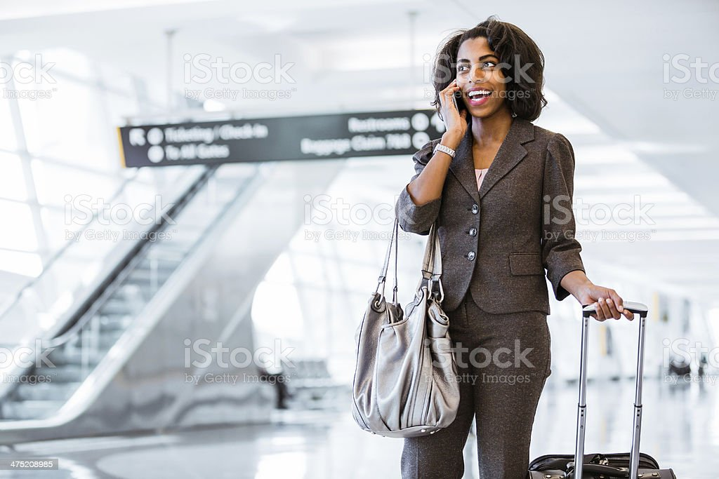 Heading out for international conference royalty-free stock photo