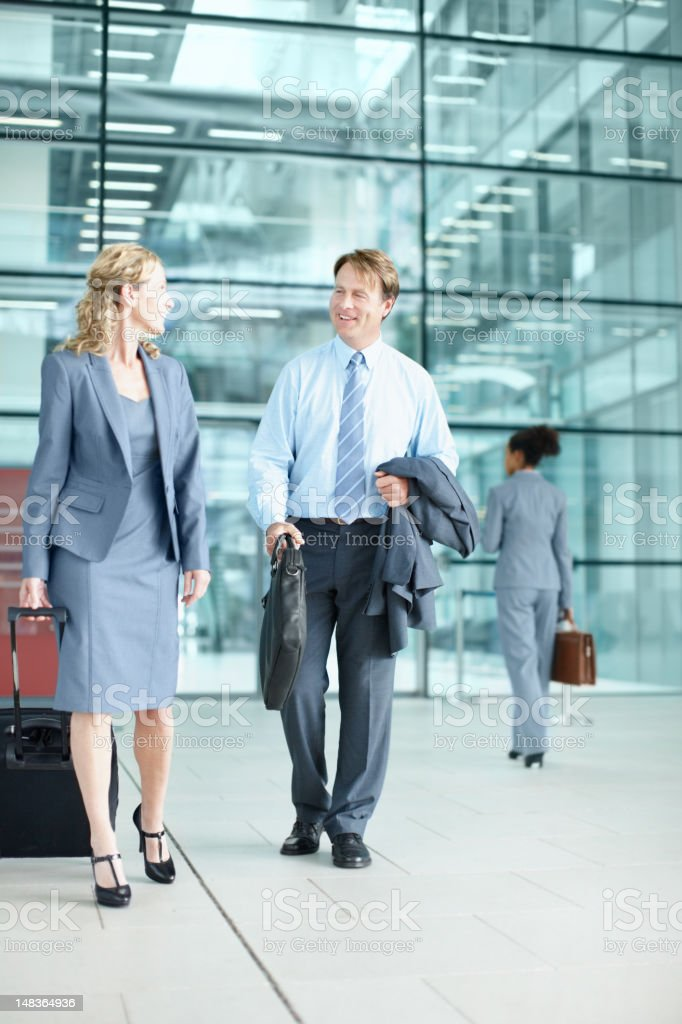 Heading out to a corporate conference royalty-free stock photo