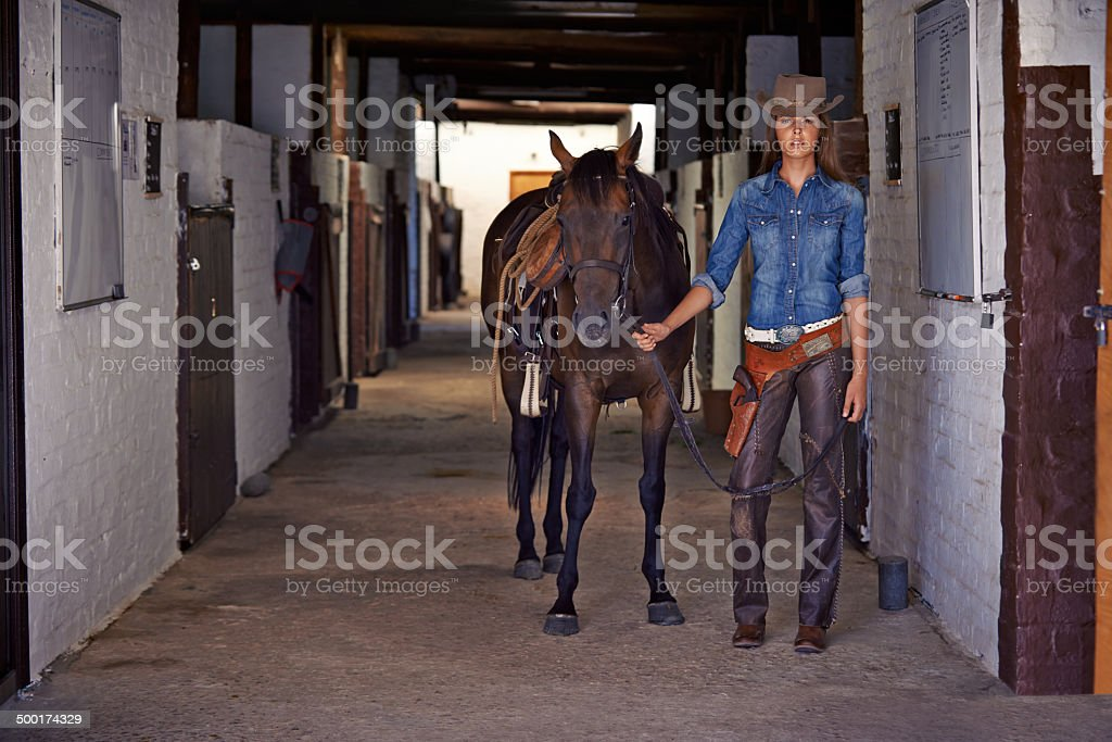 Heading out to catch an outlaw royalty-free stock photo