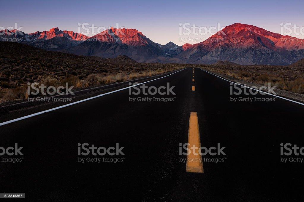 Heading to the Mountains stock photo
