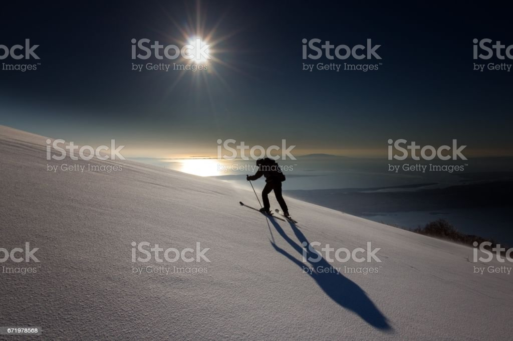 Heading to the Top stock photo