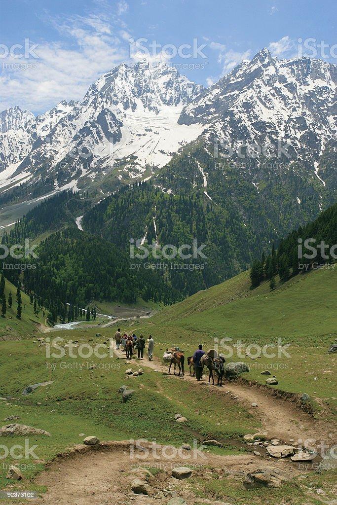 Heading towards the Himalayas royalty-free stock photo