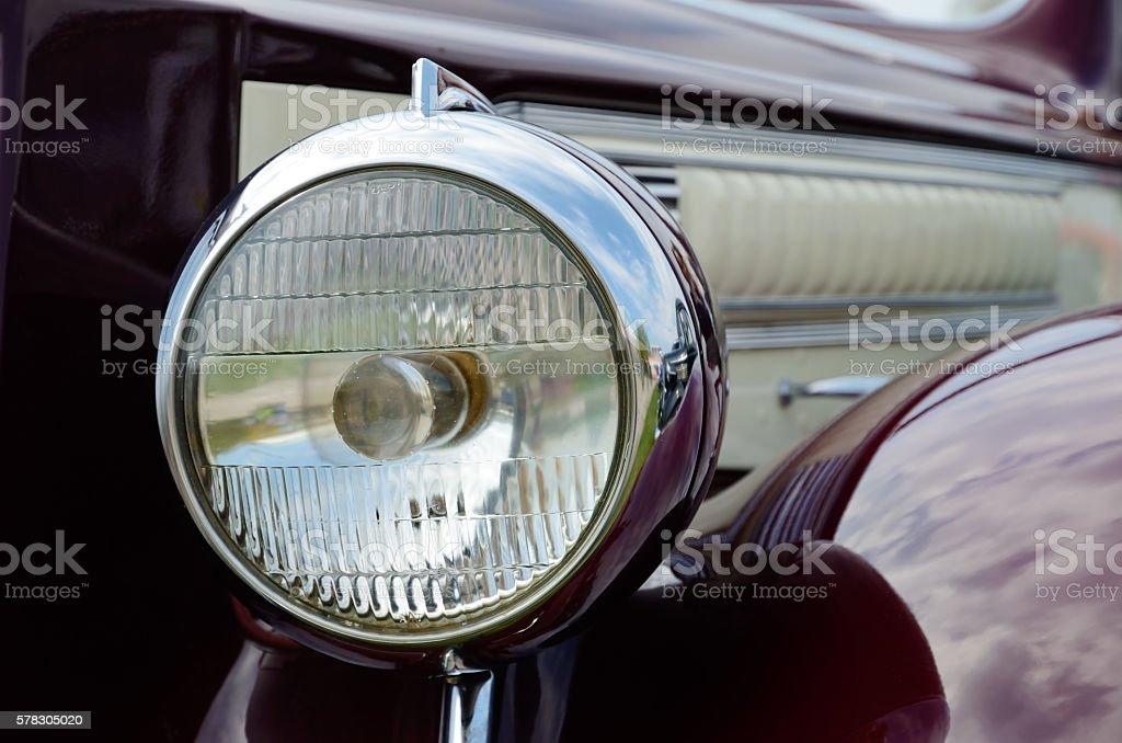 Headlamp of the car stock photo