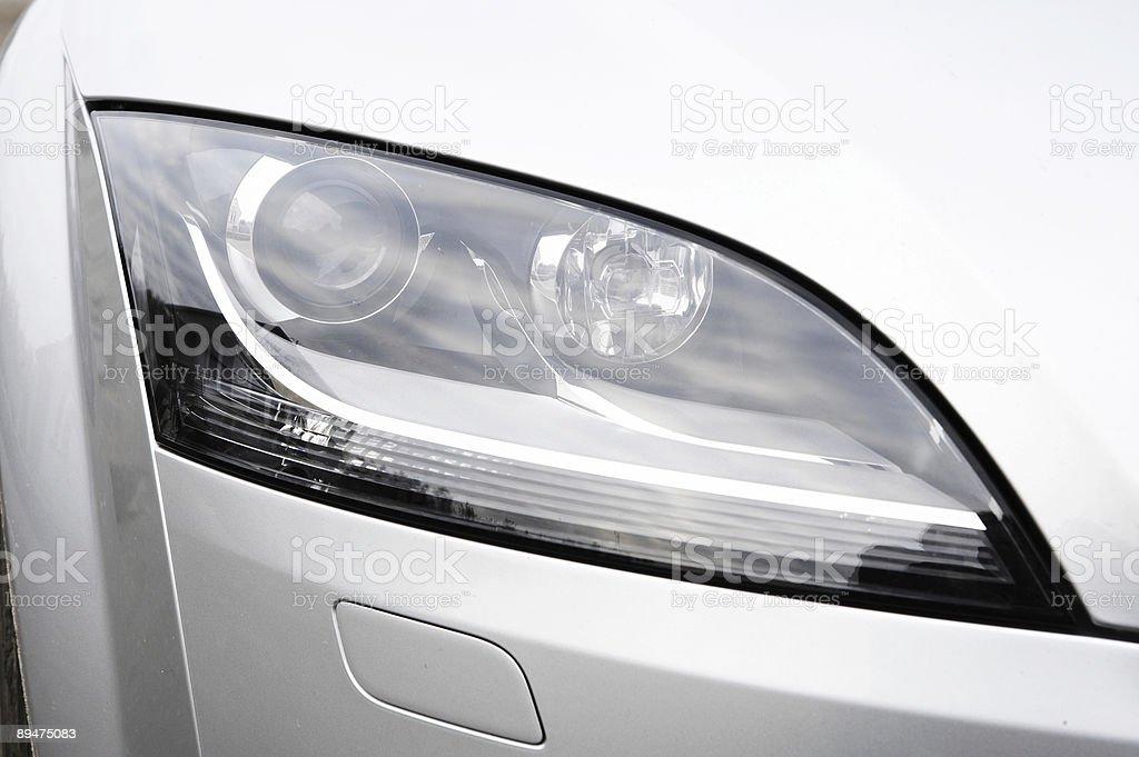 Headlamp of the sports car stock photo