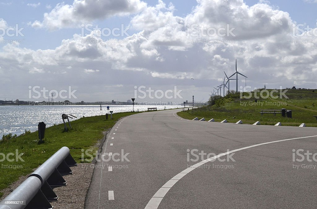 Headland at Rozenburg. stock photo