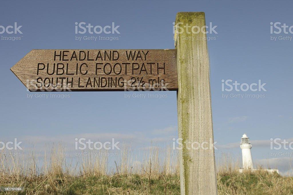 Headland Way Footpath Sign stock photo