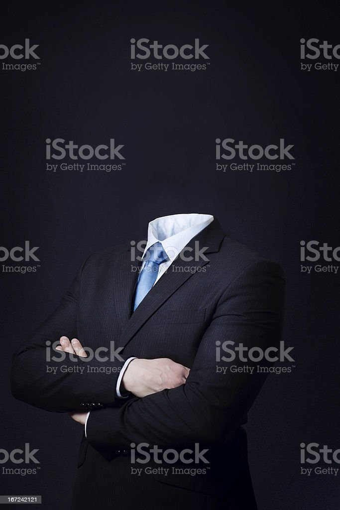 Headless Businessman stock photo