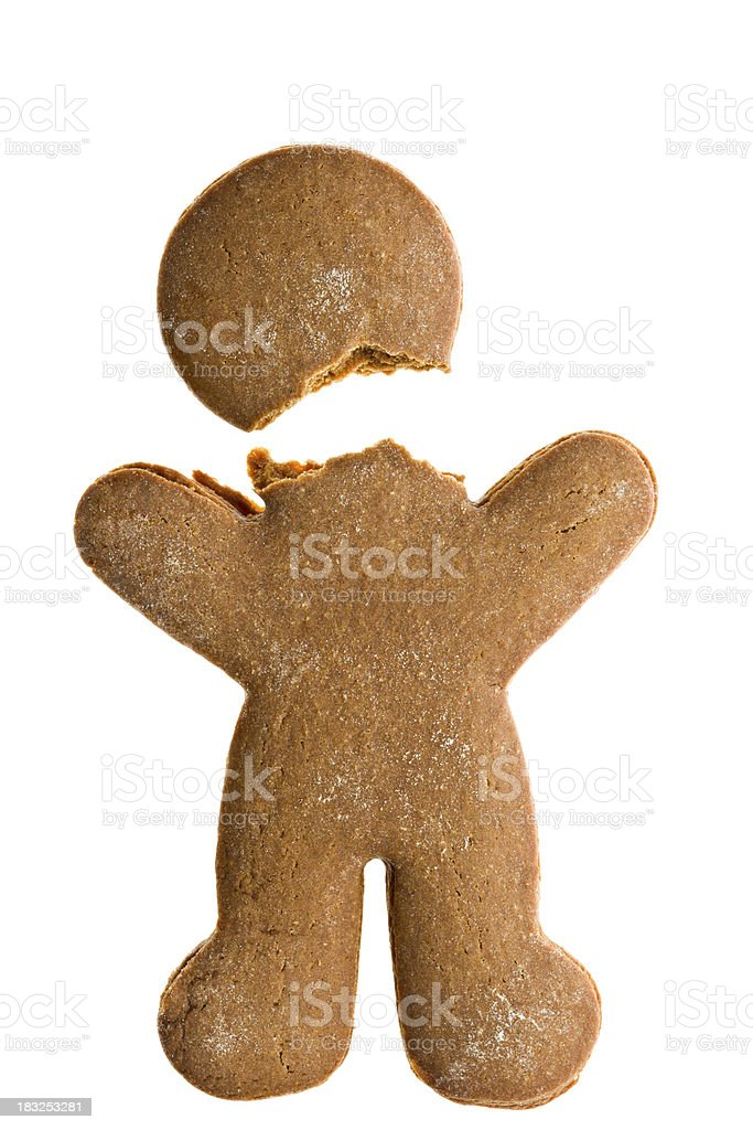 Headless Gingerbread man. stock photo