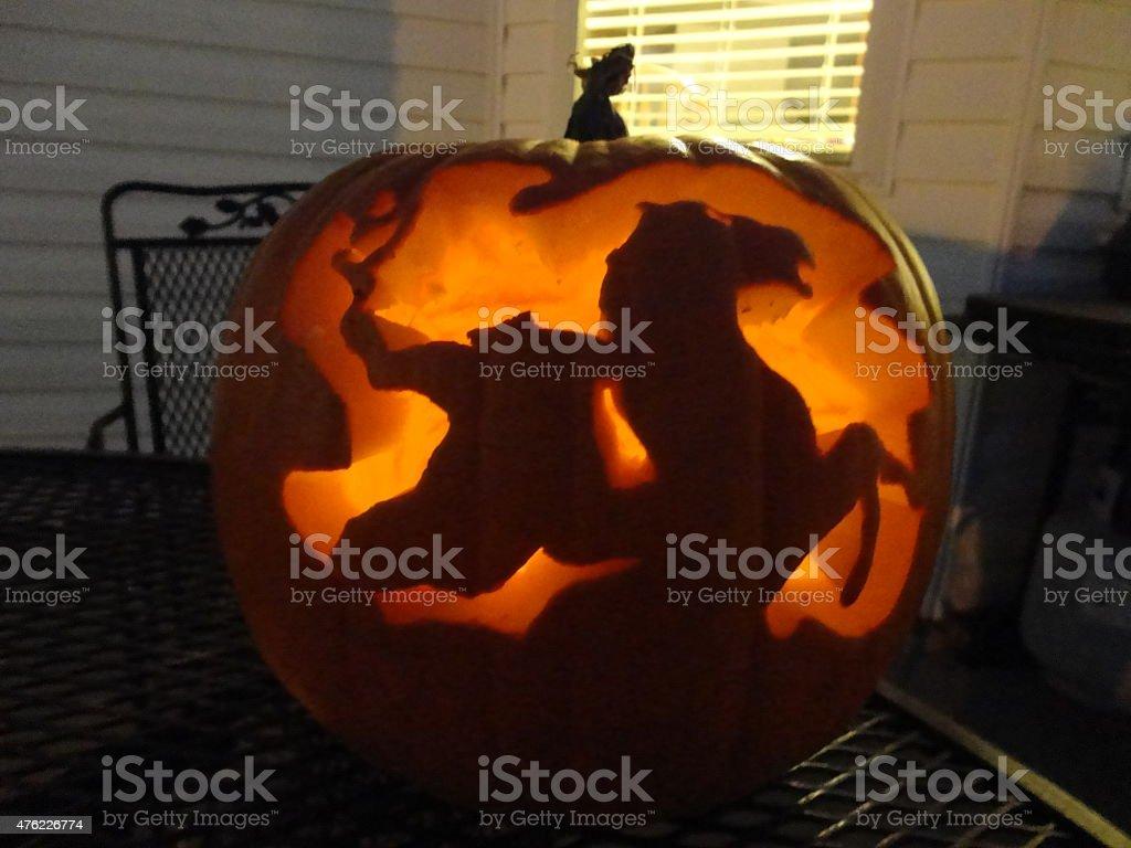 Headless Horseman Pumpkin stock photo