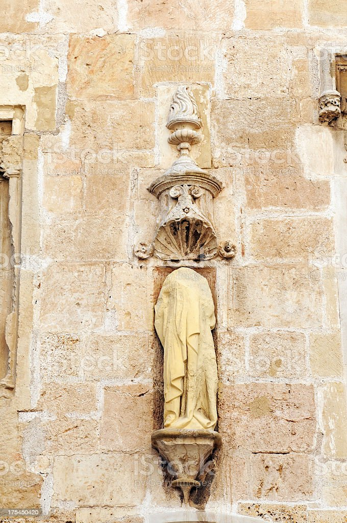 Headless religious statue in Spain royalty-free stock photo