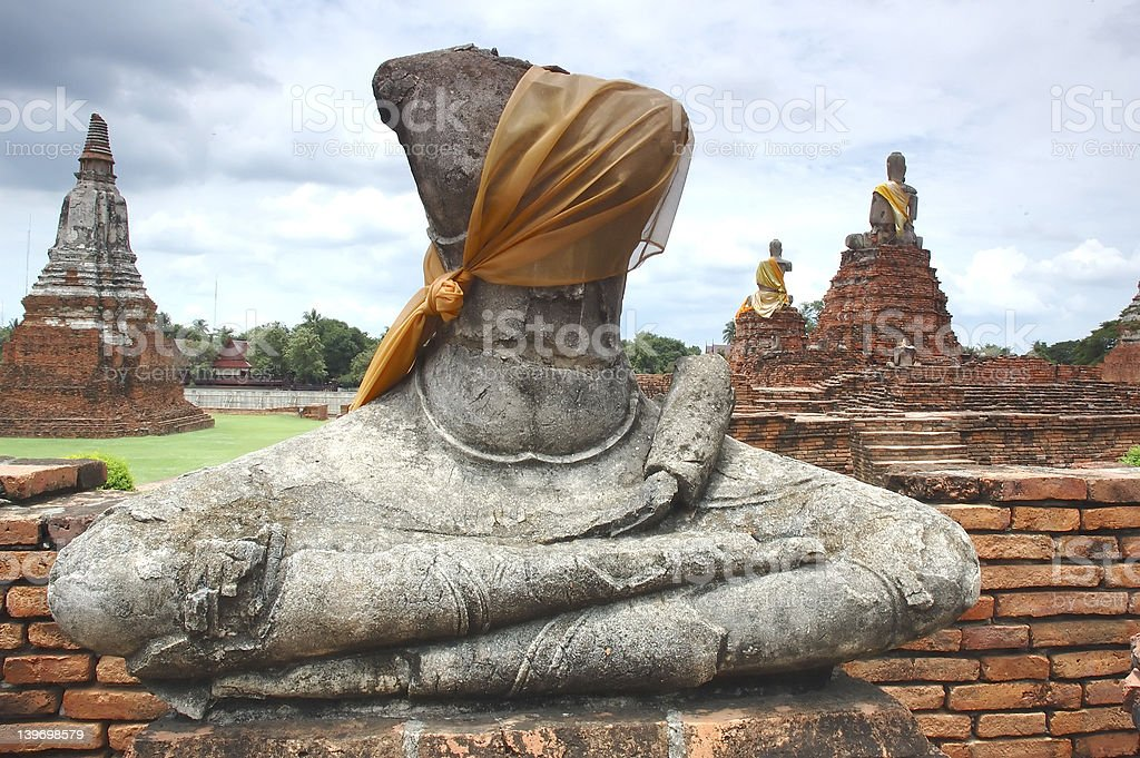 Headless Ruin buddha royalty-free stock photo