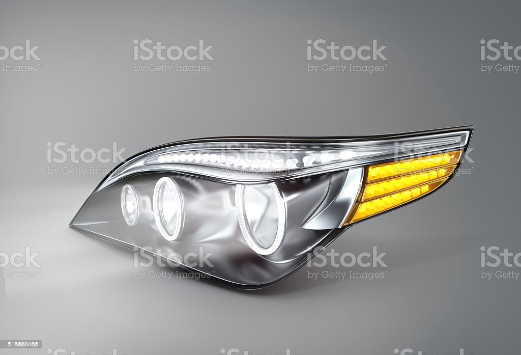 headlight car (done in 3d) stock photo
