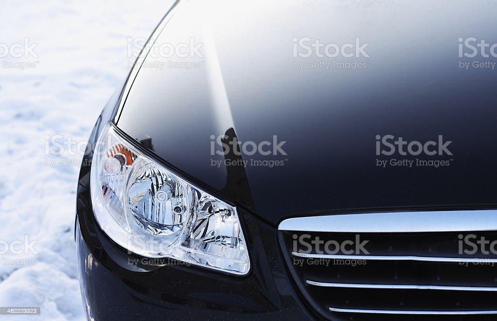 Headlight. Detail  of automobile stock photo