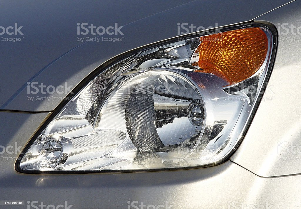 Headlight of a modern car royalty-free stock photo