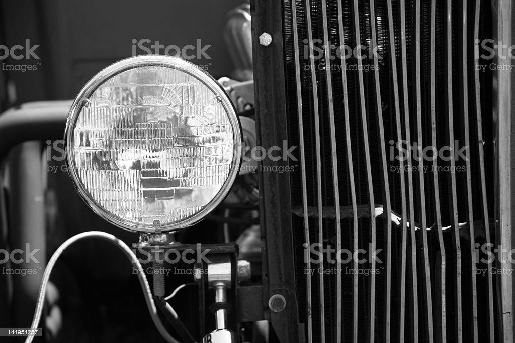 Headlight on Old Model T stock photo
