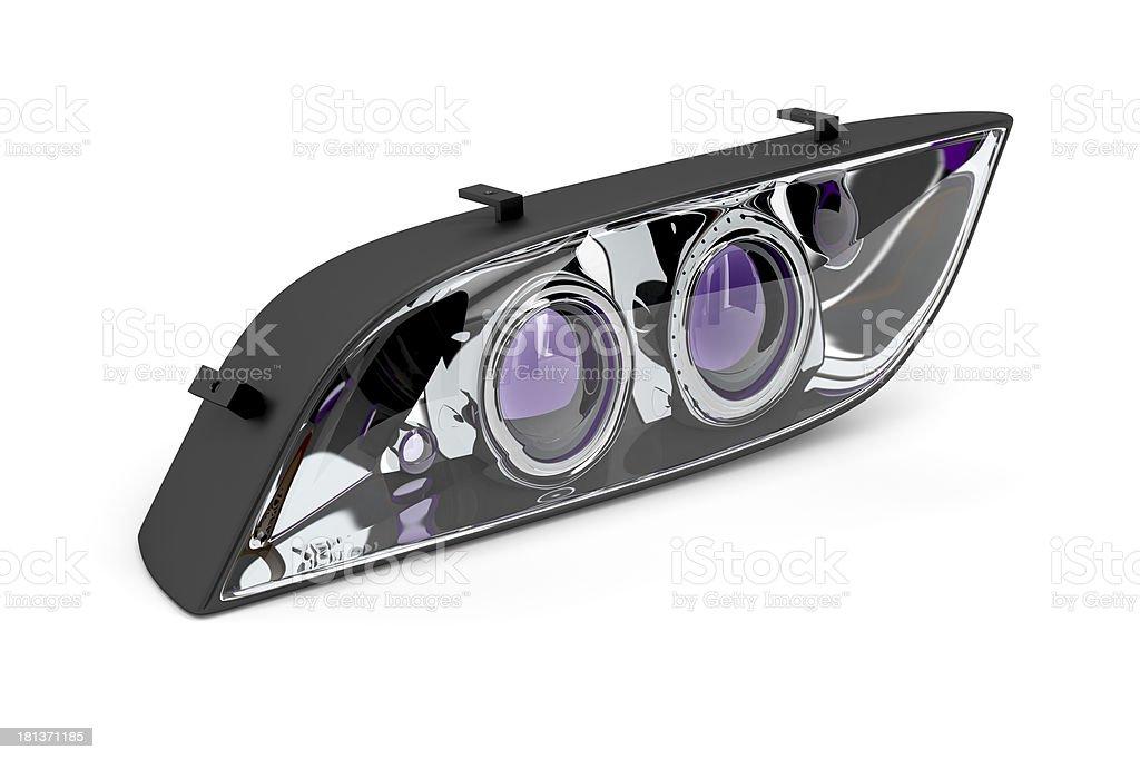 Headlight stock photo