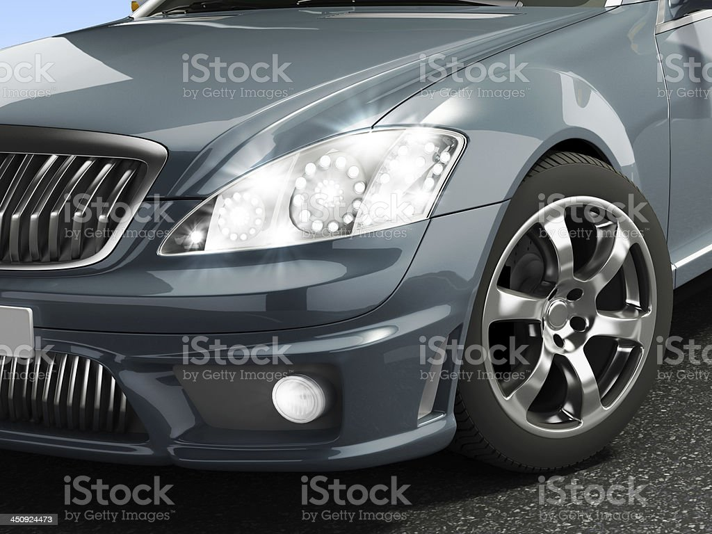 LED headlight stock photo