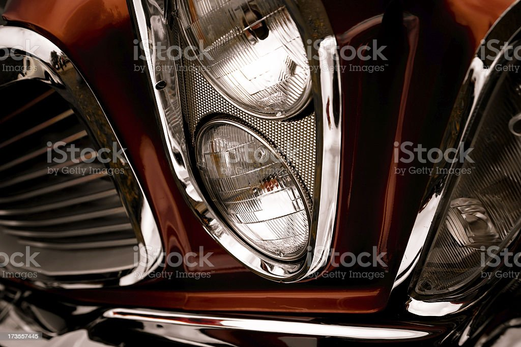 Headlight with Chrome royalty-free stock photo