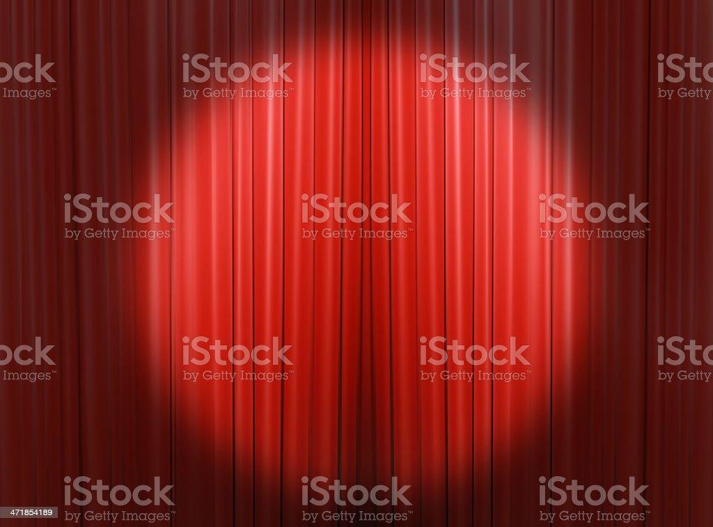 Headlights light on the curtains stock photo