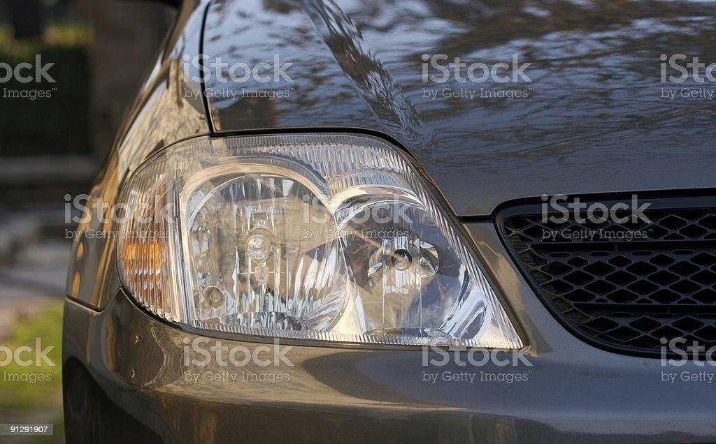 Headlights royalty-free stock photo