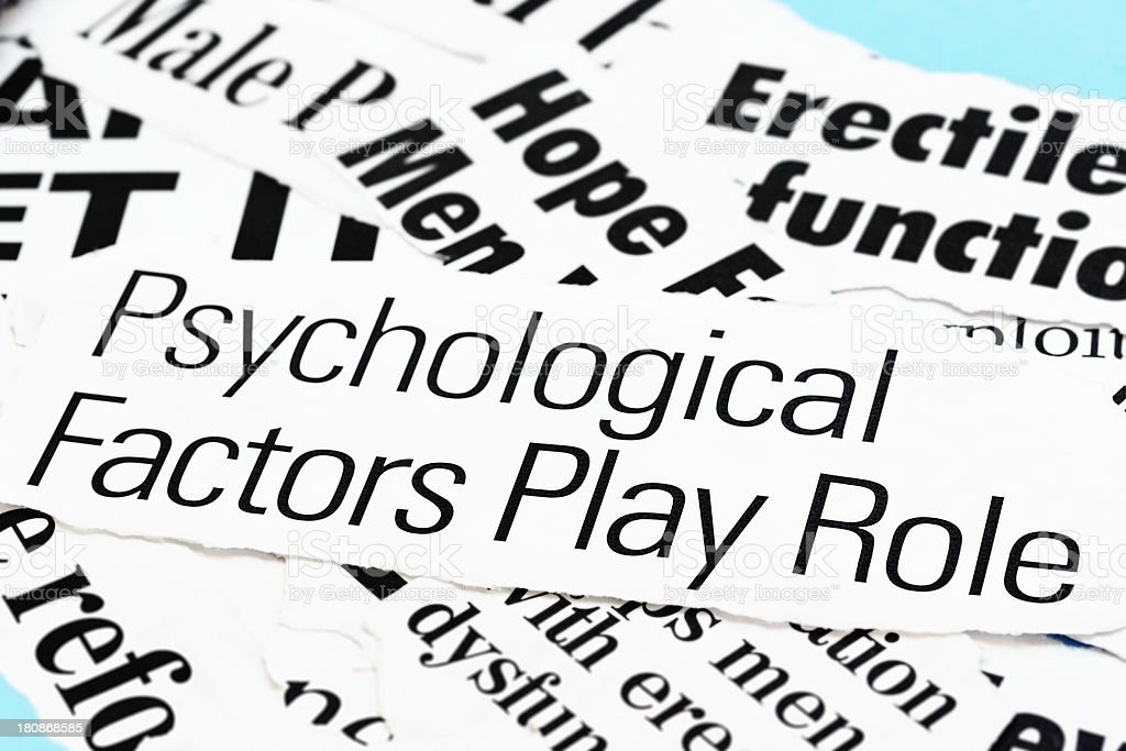 Headline claims psychological factors play role in erectile dysfunction royalty-free stock photo
