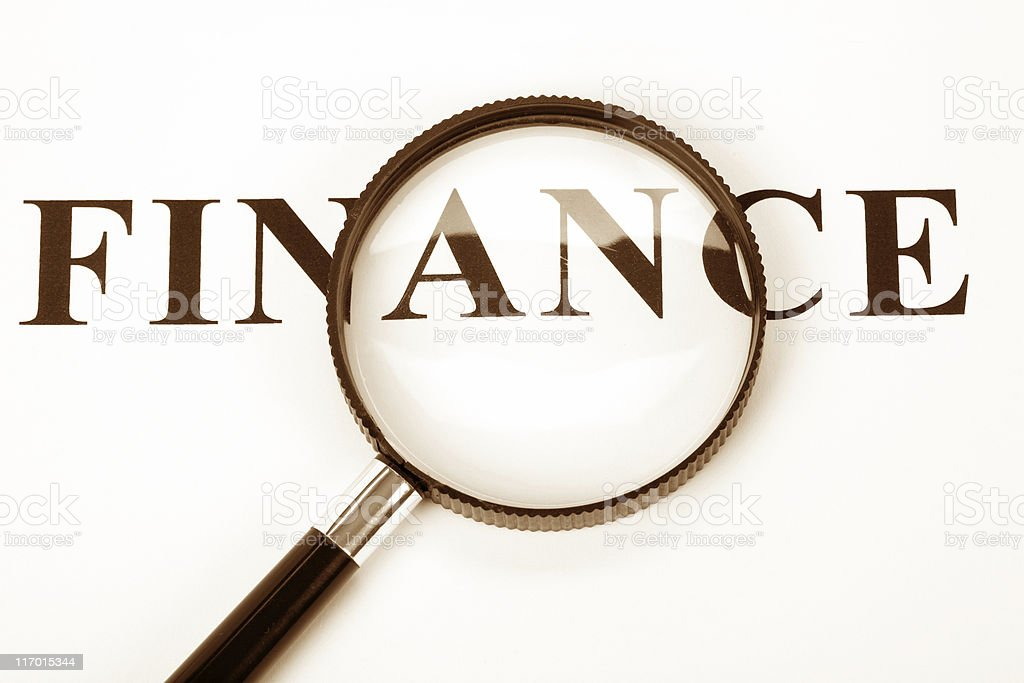 headline finance and magnifier royalty-free stock photo